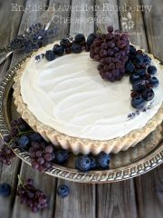 English Lavender and Blueberry Cheesecake  (raw, gluten-free)
