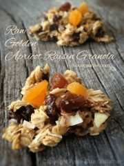 Golden Apricot Raisin Granola (raw, vegan, gluten-free)