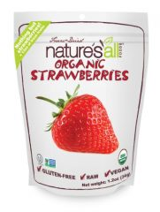 Nature's All Foods Organic Freeze-Dried Strawberries, 1.2 Ounce Pouch