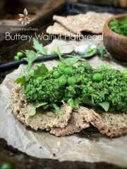 Buttery Walnut Flatbread  (raw, vegan, gluten-free)