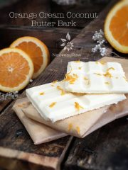 Orange Cream Coconut Butter Bark (raw, vegan, gluten-free, nut-free, sugar-free)