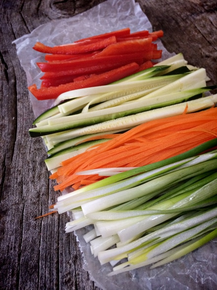 How to prepare vegetables for sushi
