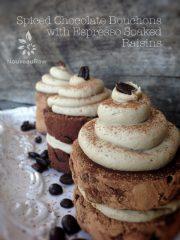 Spiced Chocolate Bouchons with Espresso Soaked Raisins  (raw, vegan, gluten-free)