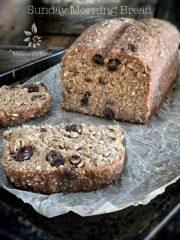 Sunday Morning Bread (raw, vegan, gluten-free)