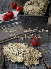 Za'atar Middle Eastern Crispy Flatbread (raw, vegan, gluten-free)
