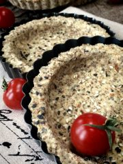 Za'atar Middle Eastern Crispy Tart Crusts (raw, vegan, gluten-free)