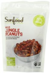 Sunfood Wild Amazonian Jungle Peanuts Organic, Raw, 8-Ounce Bags (Pack of 2)