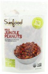 Sunfood Wild Amazonian Jungle Peanuts Organic, Raw, 8 Ounce Bag