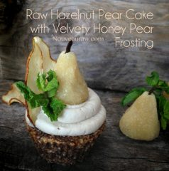 Hazelnut Pear Cake with Velvety Honey Pear Frosting  (raw, gluten-free)