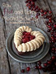 Hot and Spicy Mocha Brownies (raw, vegan, gluten-free)