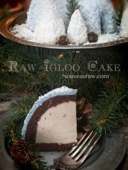 Igloo Cake – Peanut Butter Banana Ice Cream center (raw, vegan, gluten-free)