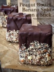 Peanut Butter Banana Split on a Stick (raw, vegan, gluten-free)