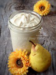 Velvety Honey Pear Frosting (raw, gluten-free)