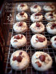 Cardamon Orange Hazelnut Biscuit with Orange Butter Glaze (raw, vegan, gluten-free)