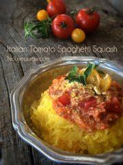 Italian Tomato Spaghetti with Noodle Squash (raw, vegan, gluten-free)