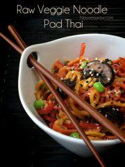 Veggie Noodle Pad Thai (raw, vegan, gluten-free)