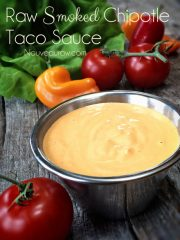 Smoked Chipotle Taco Sauce (raw, vegan, gluten-free)