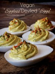 Eggless Deviled Eggs (raw, vegan, gluten-free)