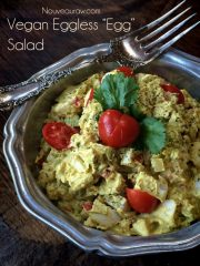 "Eggless Egg Salad, with agar ""eggs"" (raw, vegan, gluten-free)"