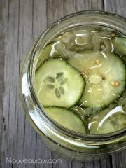 Sweet Bread and Butter Overnight Pickles (raw, vegan, gluten-free, nut-free)