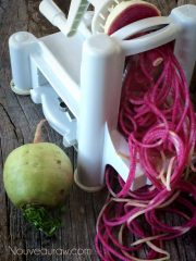 Watermelon Radish Noodles (raw, vegan, gluten-free, nut-free)