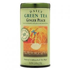 The Republic of Tea, Ginger Peach Green Tea, 50-Count