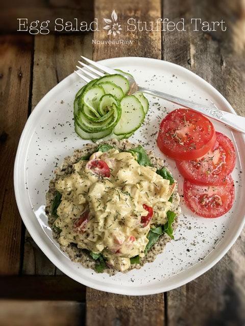 raw vegan Eggless-Salad-Stuffed-Tart