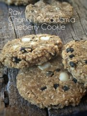 Chunky Macadamia Blueberry Cookie (raw, vegan, gluten-free)