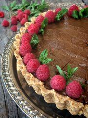 Chocolate and Caramel French Silk Pie (raw, vegan, gluten-free, nut-free)