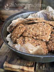 Za'atar Crackers (raw, vegan, gluten-free)