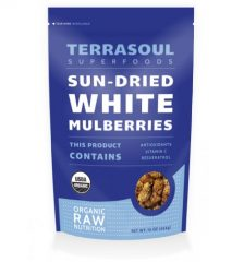 Sun-dried White Mulberries (Organic), 16-ounce