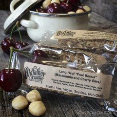 "Long Haul™ ""Fuel Bonus"" Bars -Macadamia and Cherry- (raw, vegan, gluten-free)"