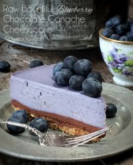 Bountiful Blueberry Chocolate Ganache Cheesecake  (raw, vegan, gluten-free)