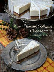 Coconut Mango Cheesecake  (raw, vegan, gluten-free)