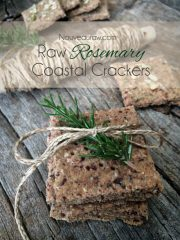 Rosemary Coastal Crackers (raw, vegan, gluten-free)
