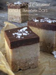 Salted Caramel and Chocolate Bars (raw, vegan, gluten-free)