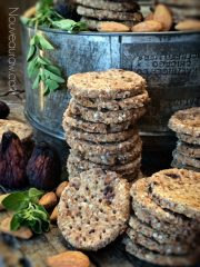 Dried Fig, Almond and Oregano Coastal Cracker (raw, vegan, gluten-free)