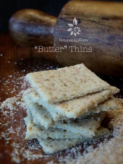Raw, Vegan, Gluten Free Butter Crackers