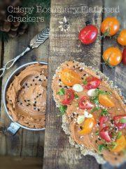 Crispy Rosemary Flatbread Crackers – version 1 (raw, vegan, gluten-free)