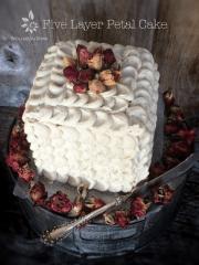 Five Layer Petal Cake (raw, vegan, gluten-free)