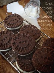Chocolate and Cream Sandwich Cookie (raw, vegan, gluten-free)