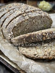 Sauerkraut and Caraway Bread  (raw, vegan, gluten-free)