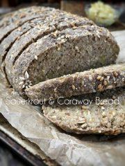 Sauerkraut and Caraway Bread  (raw, vegan, gluten-free)