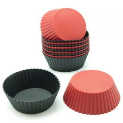 Freshware CB-304 12-Pack Round Silicone Reusable Baking Cup