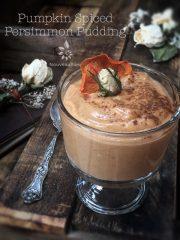 Pumpkin Spiced Persimmon Pudding (raw, vegan, gluten-free, nut-free)
