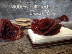 Wildberry Fruit Filled Danish Pastry (raw, vegan, gluten-free)