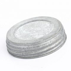 Package of 6 Large Mouth Canning Jar Lids in Galvanized Finish