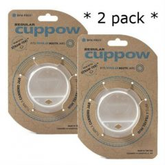 Regular Mouth Cuppow Clear 2 Pack