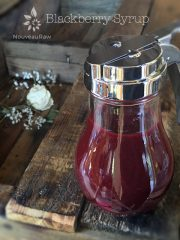 Blackberry Syrup  (raw, vegan, gluten-free, nut-free)