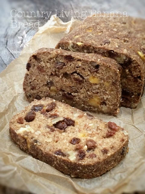 Country Living Banana Bread that's raw, vegan, gluten-free